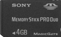 Memory Stick 4096MB PRO DUO Sony +adapter